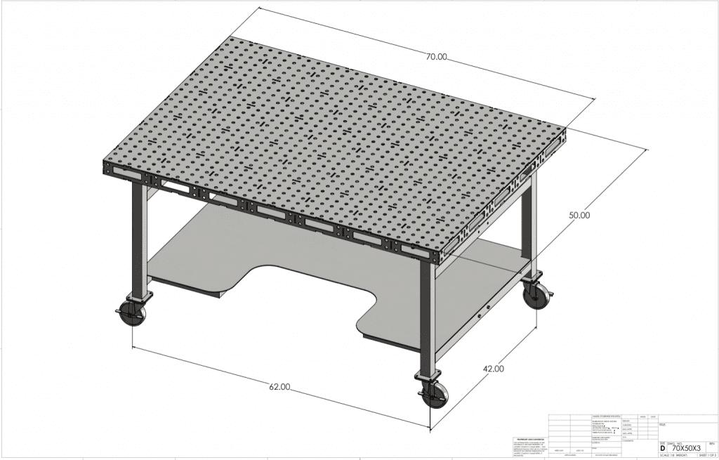 Welding Table Gallowtech Sides